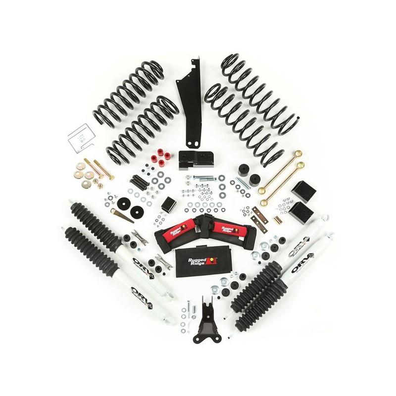 """Kit Rialzo 2,5"""" con Ammortizzatori jeep Wrangler JK"""